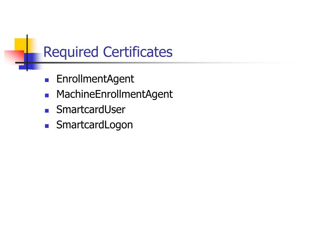 Required Certificates