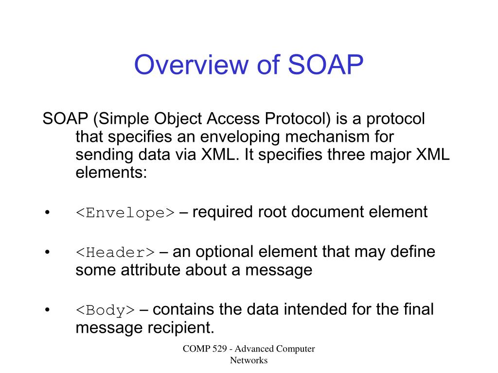 Overview of SOAP