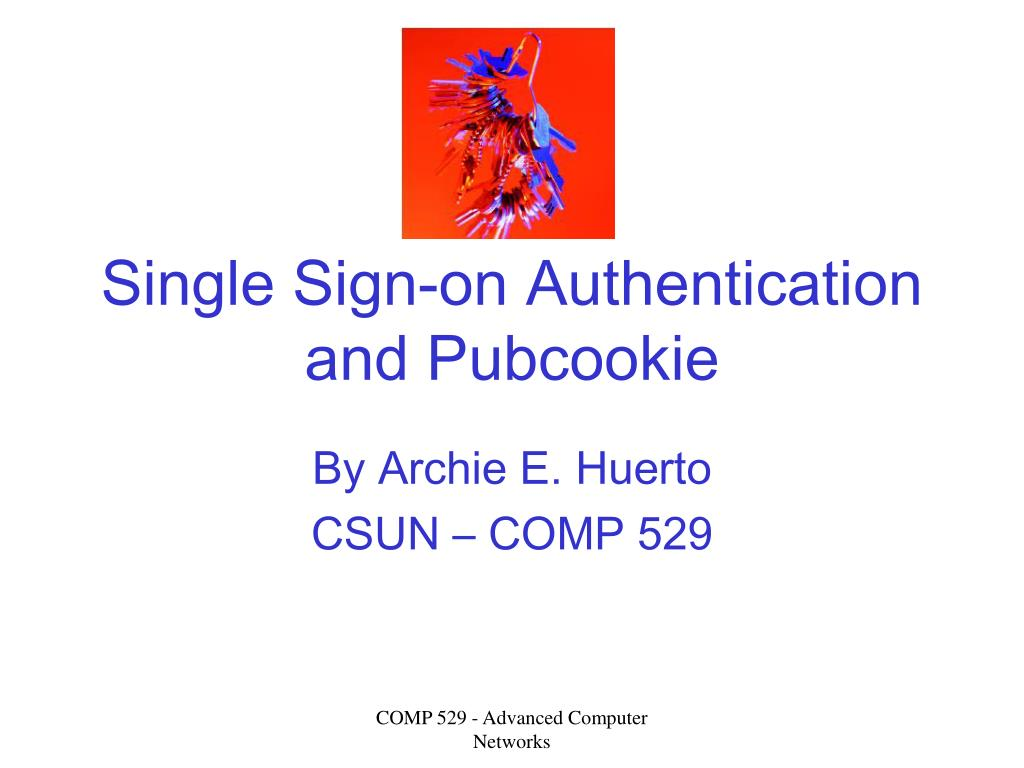 single sign on authentication and pubcookie l.