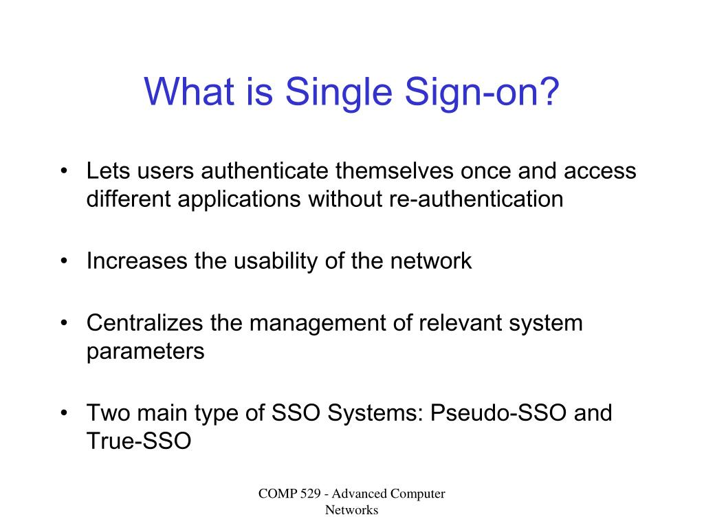What is Single Sign-on?