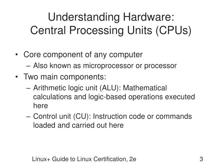 Understanding hardware central processing units cpus