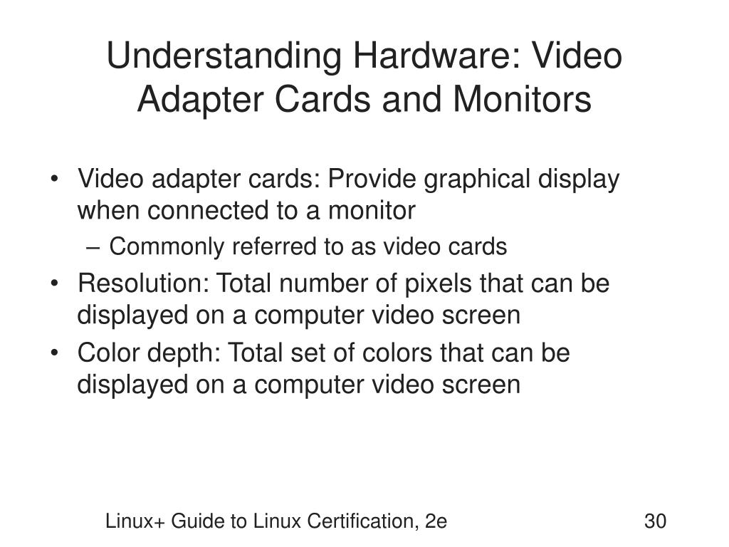 Understanding Hardware: Video Adapter Cards and Monitors