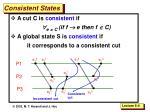 consistent states