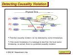 detecting causality violation