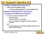 the snapshot algorithm 2