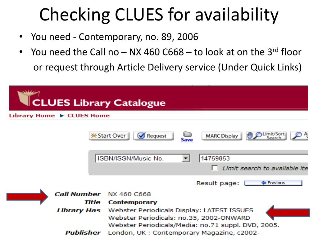 Checking CLUES for availability