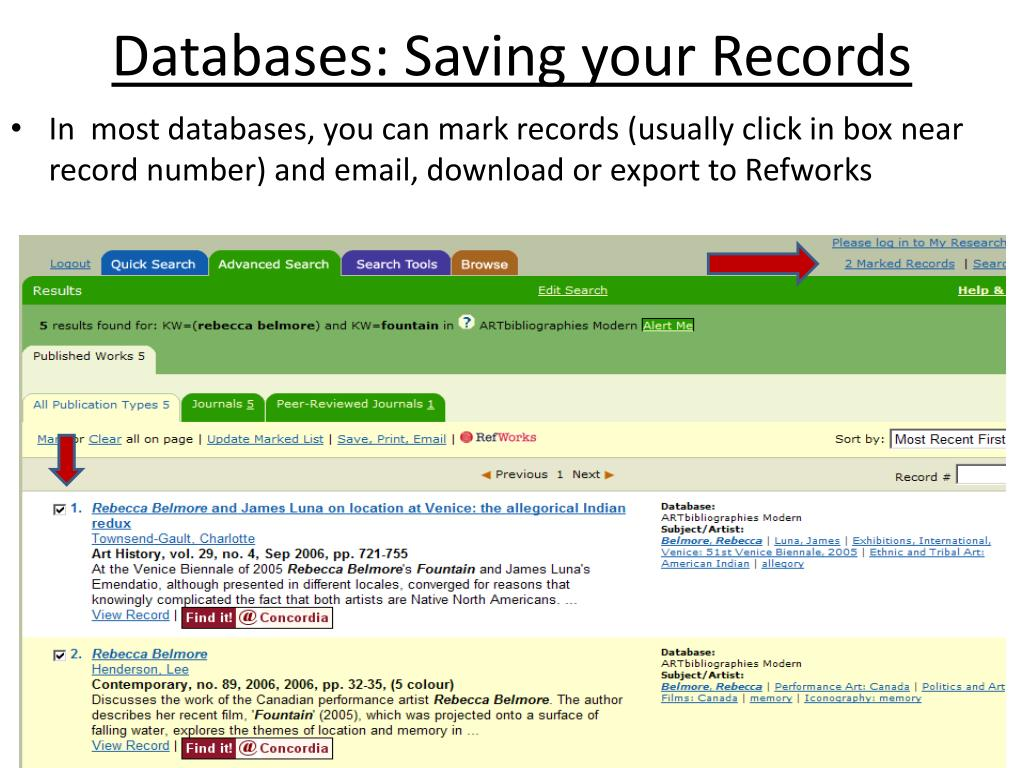 Databases: Saving your Records