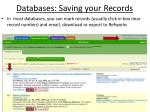 databases saving your records