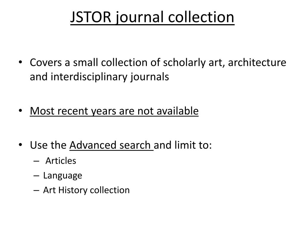 JSTOR journal collection