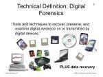 technical definition digital forensics