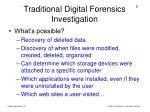 traditional digital forensics investigation