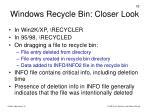 windows recycle bin closer look