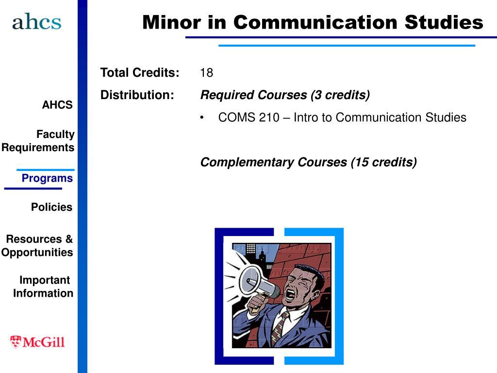 Minor in Communication Studies