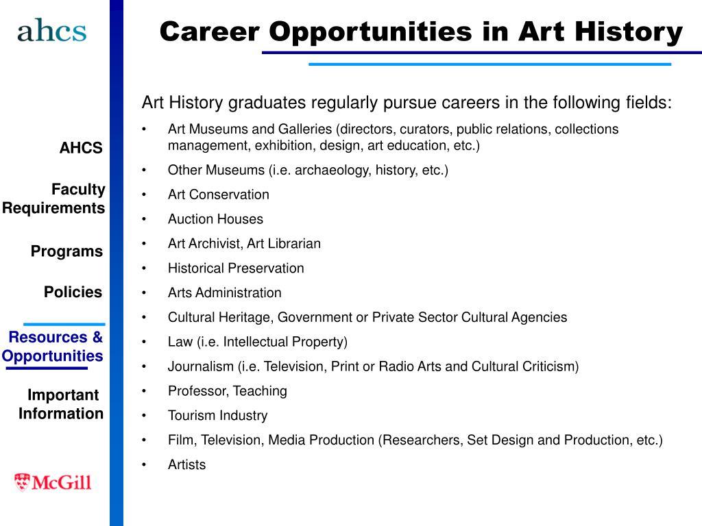 Career Opportunities in Art History