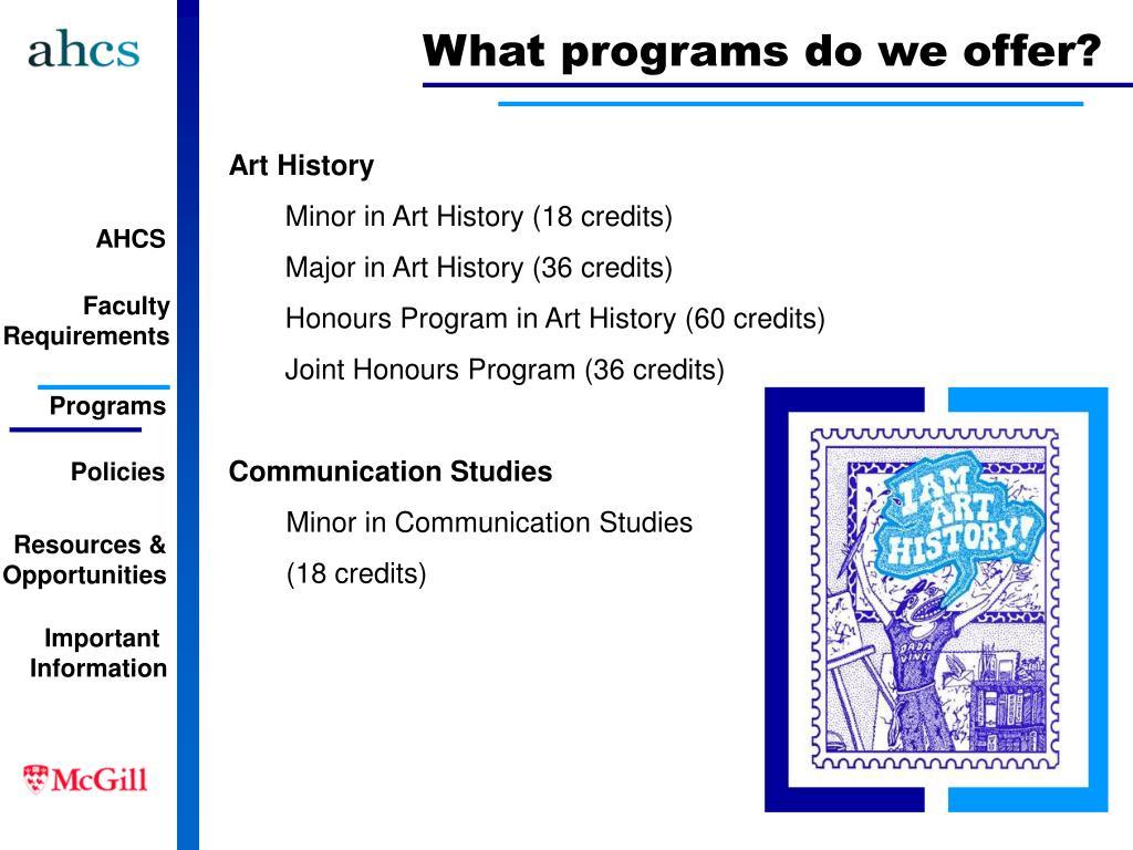 What programs do we offer?