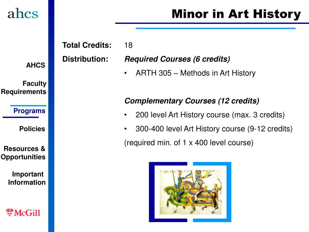 Minor in Art History