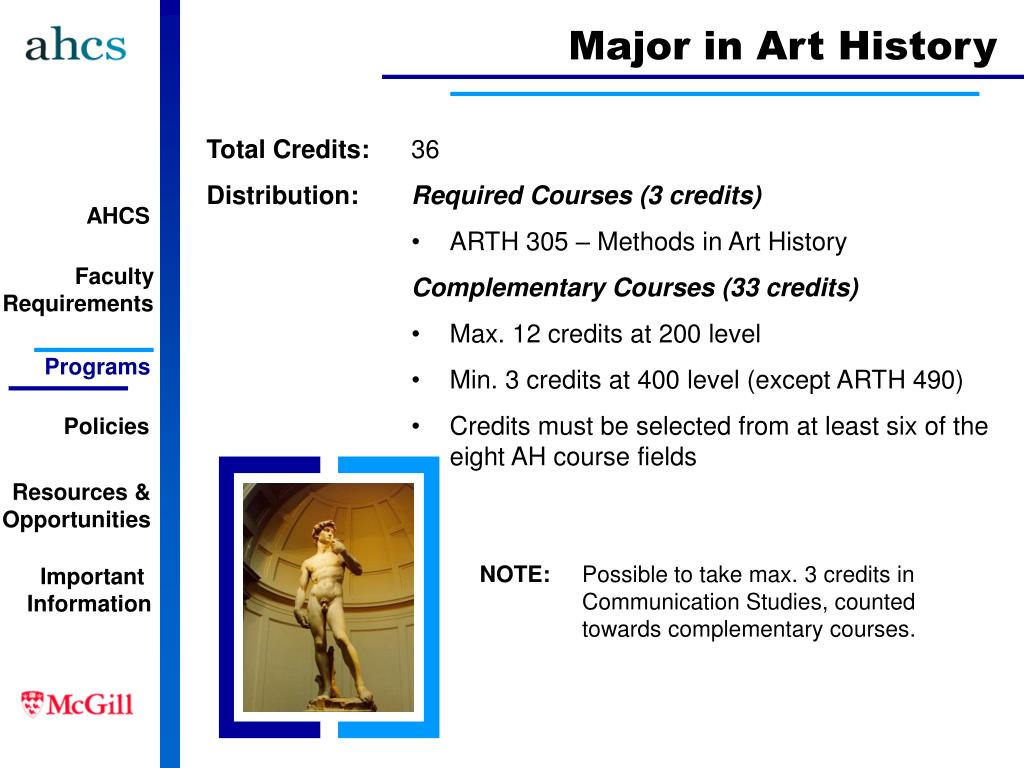 Major in Art History
