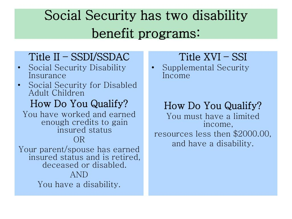 PPT - Brief Overview of Social Security Disability Benefits