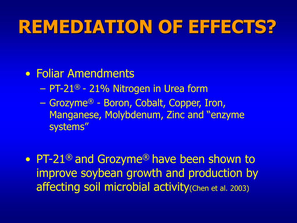 REMEDIATION OF EFFECTS?
