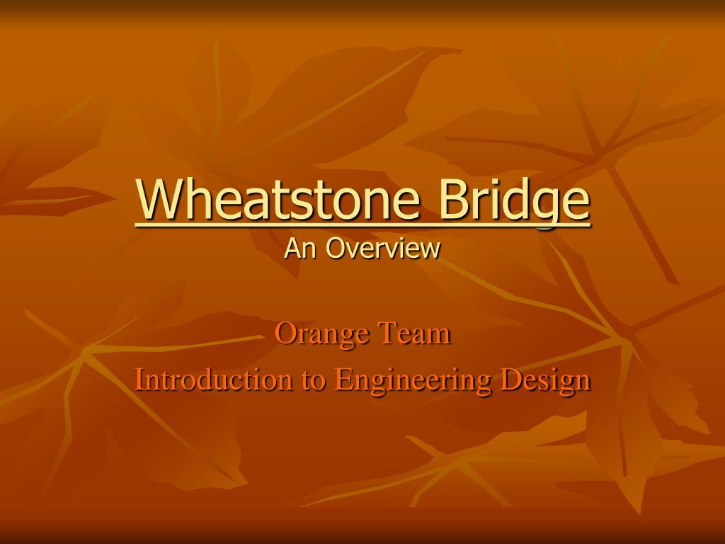 wheatstone bridge an overview l.