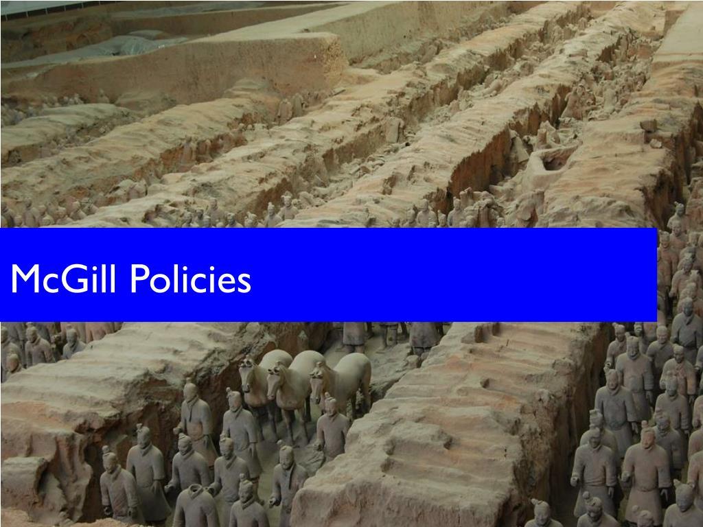 McGill Policies