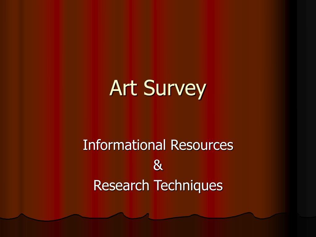 art survey l.