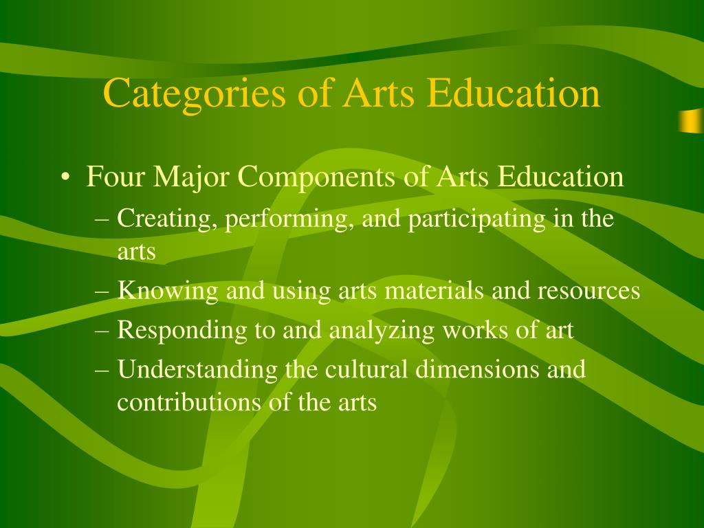 Categories of Arts Education