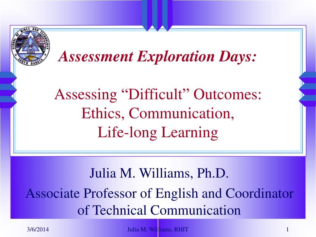 Assessment Exploration Days: