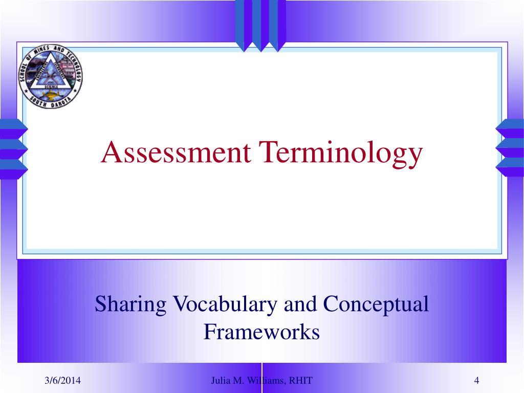 Assessment Terminology
