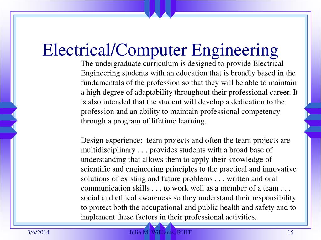 Electrical/Computer Engineering