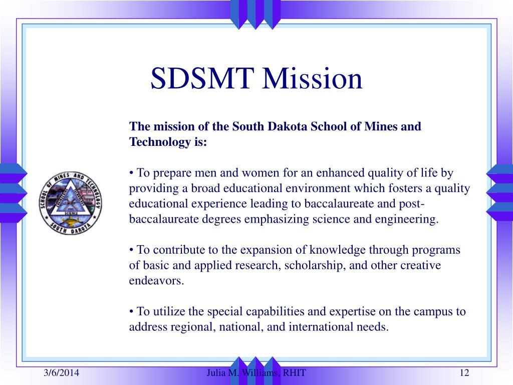 SDSMT Mission