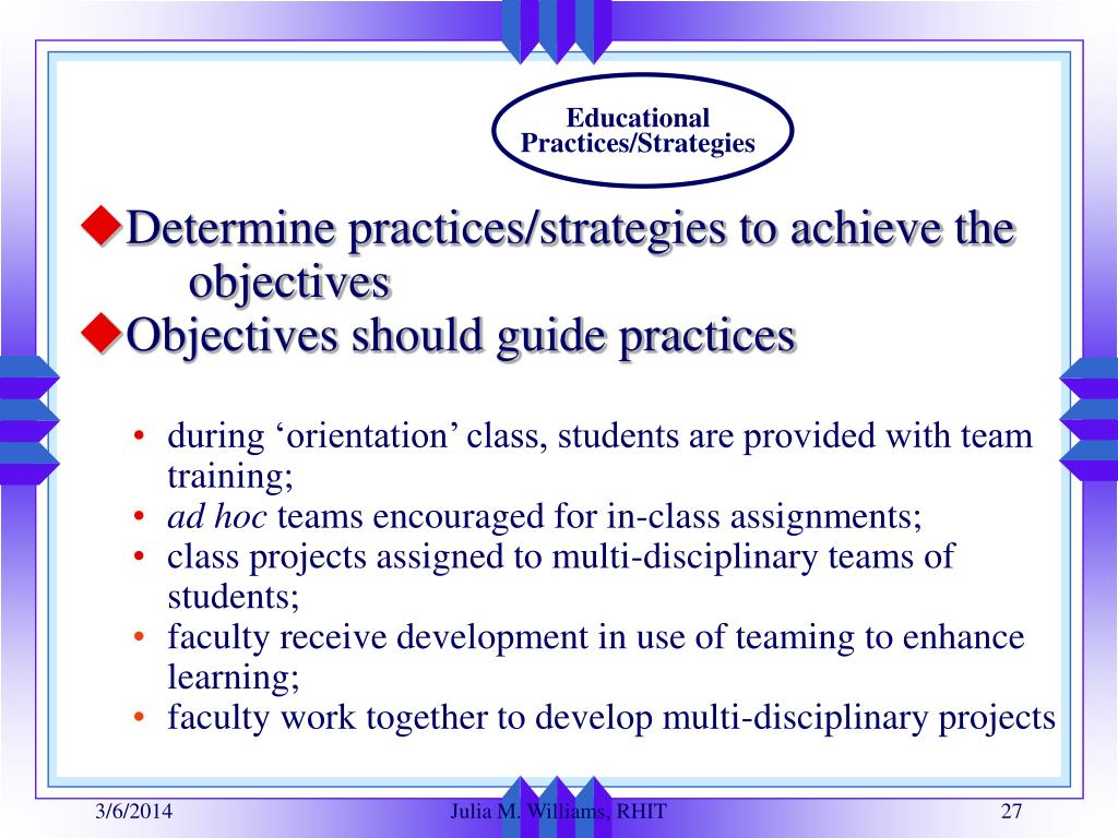 Educational Practices/Strategies
