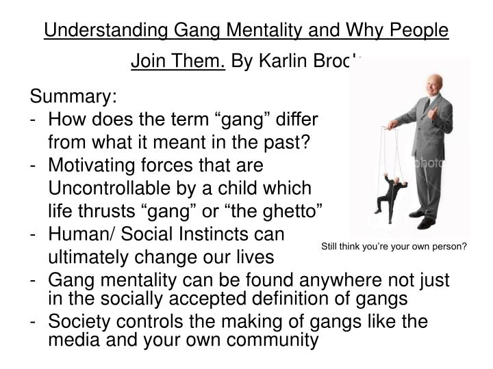 how gangs affect our community Into the abyss: a their victims and their participation in already existing community-based gangs holds in store as regards gangs in our.