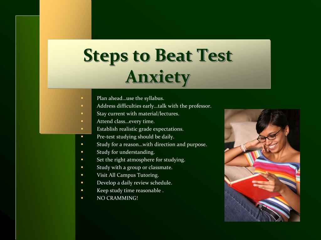 Steps to Beat Test Anxiety