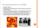 the disintegration of the ussr19