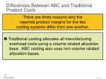 differences between abc and traditional product costs49