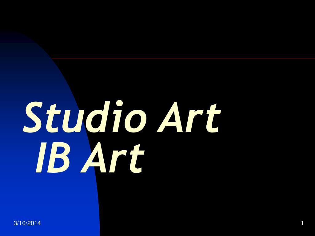 studio art ib art l.