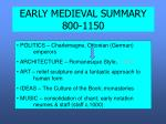 early medieval summary 800 1150