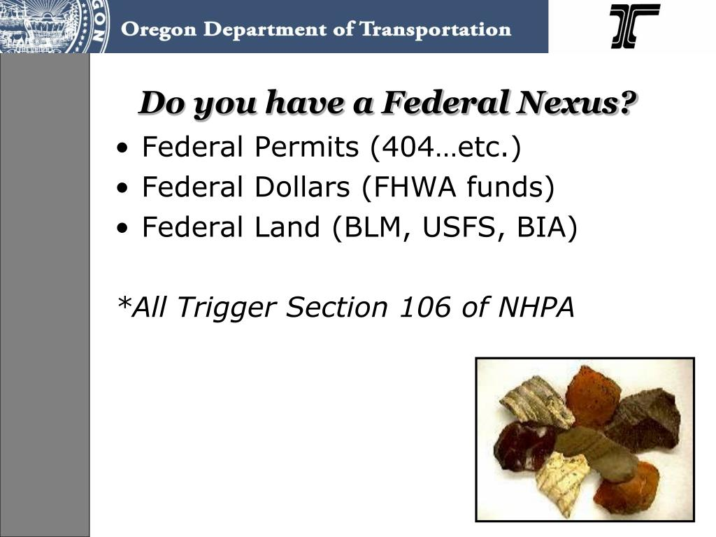 Do you have a Federal Nexus?