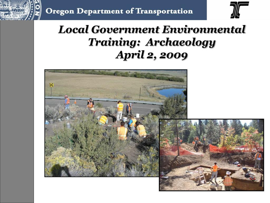 local government environmental training archaeology april 2 2009 l.
