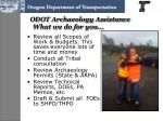 odot archaeology assistance what we do for you