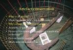 artefact conservation