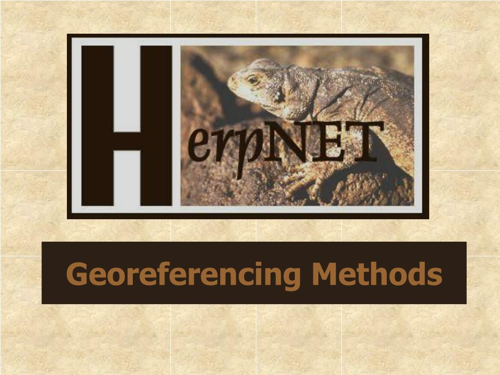 georeferencing methods