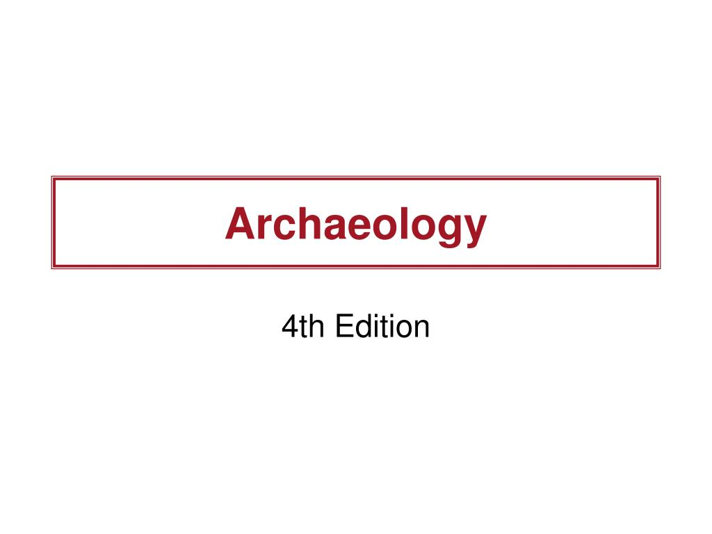 archaeology l.
