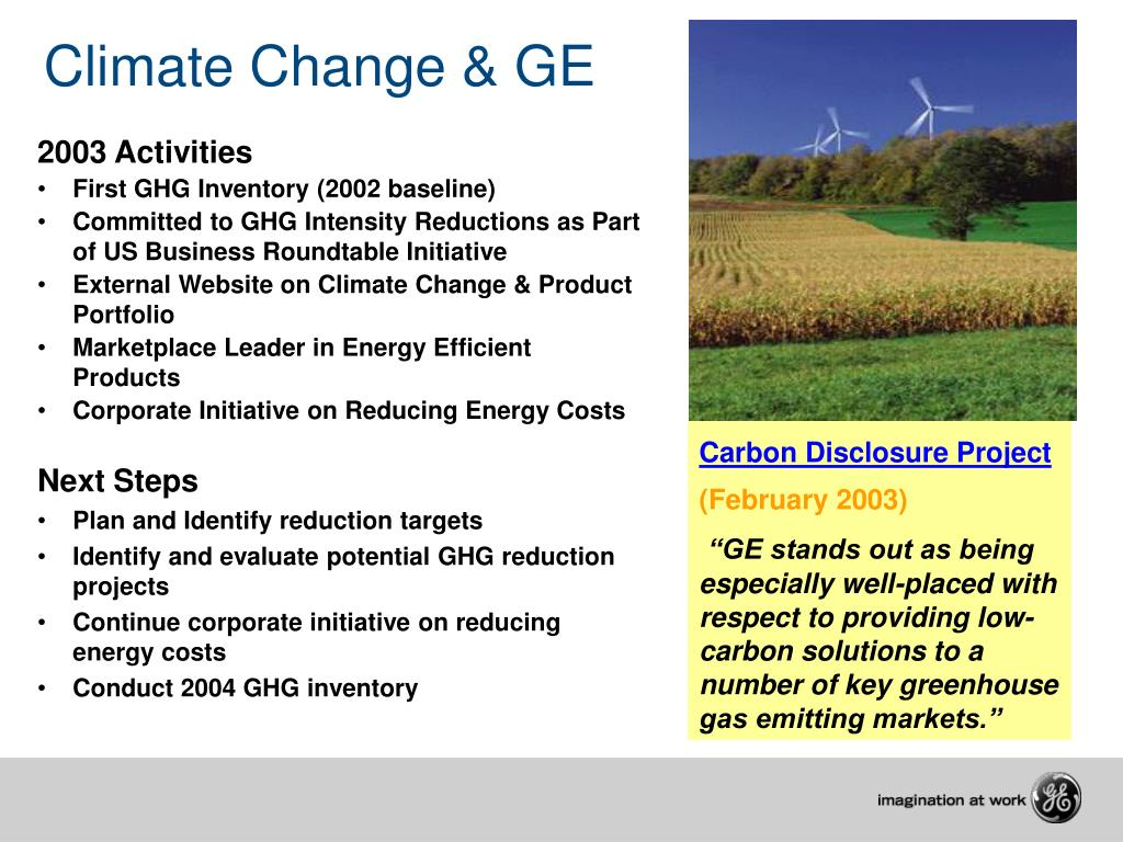 Climate Change & GE