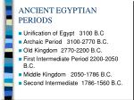 ancient egyptian periods