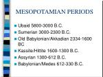mesopotamian periods