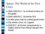 sumer the world of the first cities