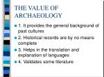 the value of archaeology97