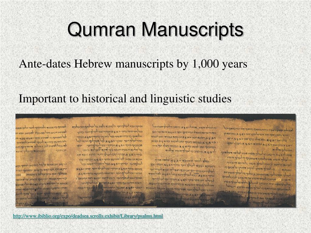 Qumran Manuscripts